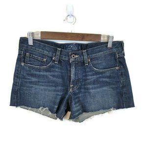 Lucky Brand Dark Wash Denim Jean Cutoff Shorts